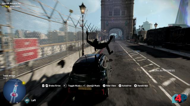 Mit dem Auto zu fahren, macht in Watch Dogs Legion viel Spaß - die Vehikel steuern sich super!
