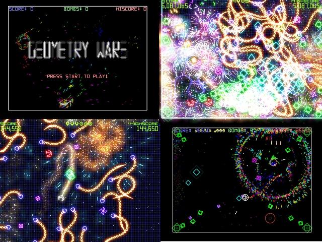Geometry Wars: Retro Evolved (2005) <br><br> Dass man bei Bizarre Creations auch noch etwas anderes kann als Rennspiele, stellte man mit Geometry Wars: Retro Evolved unter Beweis. Ursprünglich wurde das Konzept bereits in PGR2 vorgestellt, wo man Geometry Wars als (kostenloses) Minispiel integriert hatte. Retro Evolved erschien dagegen als grafisch deutlich aufgepepptes Arcade-Spiel für Xbox Live und machte in der Redaktion vornehmlich Ben und Mathias süchtig. Versionen für Windows XP und Vista folgten im Jahr 2007, DS- und Wii-Besitzer wurden im gleichen Jahr mit Geometry Wars: Galaxies beehrt. 2199397
