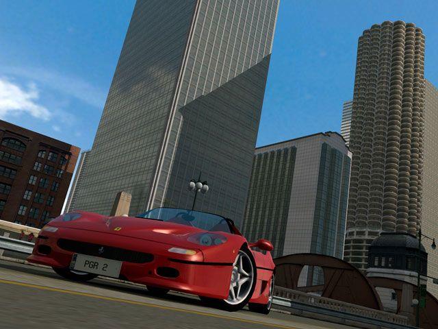 Project Gotham Racing 2 (2003) <br><br> Nach dem Erfolg von PGR setzte Microsoft die Zusammenarbeit mit Bizarre Creations fort. Das Ergebnis: Project Gotham Racing 2. Mit einer neuen Grafikengine, zehn Städten, über 100 Fahrzeugen, neuen Spielmodi und einem stärkeren Fokus auf Xbox Live war dies der bis dato umfangreichste und größte Titel für das Studio. Heute Standard, damals noch ungewöhnlich: Mit den beiden DLC-Packs Paris Booster Pack und Long Beach Booster Pack konnte das Spiel um zwei weitere Städte erweitert werden. Die berühmt-berüchtigte Nordschleife des Nürburgrings war dagegen schon von Anfang an enthalten - genau wie Radio-Sender wie RPR mit ihren Original-Moderatoren und Song-Import. 2199387