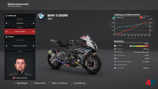 Die Auswahl an lizenzierten Motorrädern bleibt überschaubar.