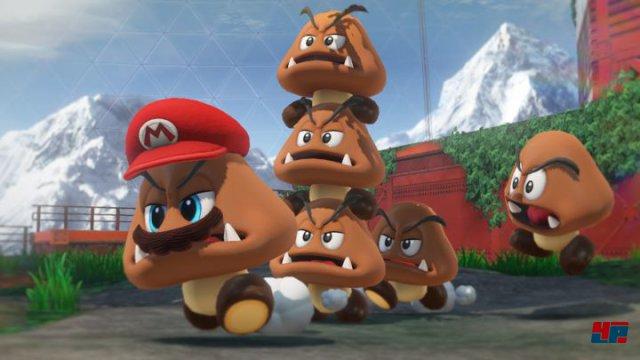 Mario kann die Kontrolle über andere Figuren übernehmen - auch Gegner.
