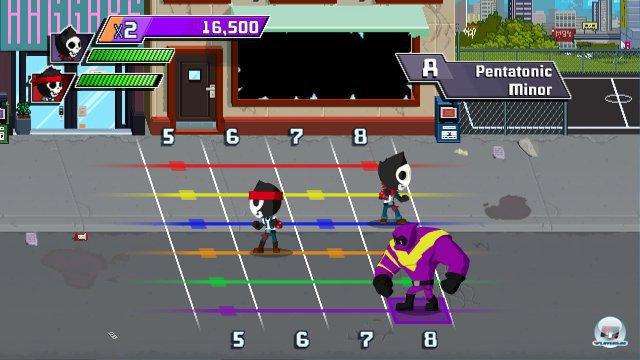 In der Guitarcade warten elf Minigames, mit denen man neue Techniken spielerisch erlernt.