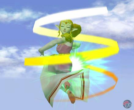 Mit dem wütenden Wind-Zauber bläst sie die Gegner vom Feld.
