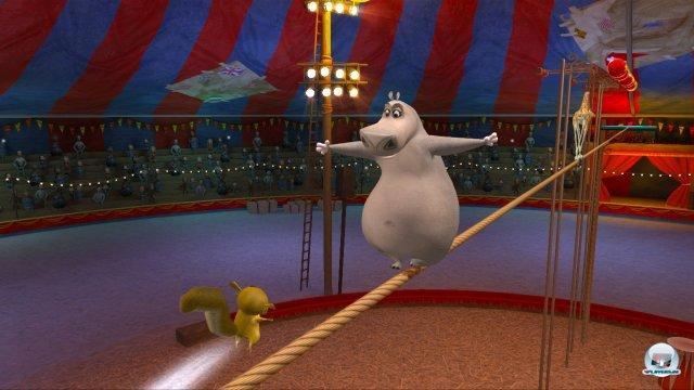 Hat man eine Stadt abgeschlossen, versucht man sich in durchwachsenen Zirkus-Minispielen.