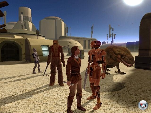 <b>Star Wars: Knights of the Old Republic</b><br><br>Jörg und Michael würden mich und all meine männlichen Nachkommen mit dunkler Magie verfluchen auf immerdar, wenn ich das ihrer Meinung nach allerallerbestesteste Star Wars-Spiel übergehen würde. Pff! Als ob ich sowas machen würde! Wobei es doch so einfach ist: BioWare - muss man noch mehr sagen? Na gut, ein bisschen mehr geht noch: KotOR, das erste Star Wars-Rollenspiel für Computer überhaupt, bot 2003 auf PC und Xbox ein intelligentes, auf D&D fußendes Kampfsystem, eine beeindruckend reichhaltige Story und dem Spieler die Möglichkeit, sich entweder auf die helle oder die dunkle Seite der Macht zu stellen. Ein Jahr später gab das von Obsidian Entertainment entwickelte Add-On »The Sith Lords«, das ebenso empfehlenswert ist wie das Hauptspiel. 1855243