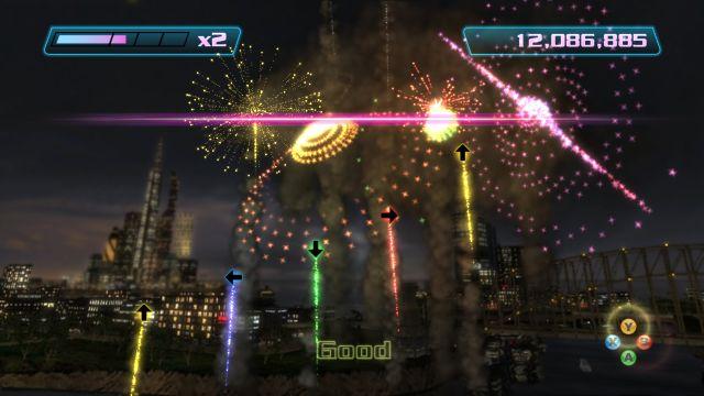 Boom Boom Rocket (2007) <br><br> Ebenfalls in die Kategorie Arcade-Spiel und optisch mit Anleihen bei Geometry Wars folgte 2007 Boom Boom Rocket, welches das unabhängige Studio für Electronic Arts entwickelte. Obwohl es weniger hektisch zuging, war auch hier Geschicklichkeit gefragt: Im Takt der Musik, die aus elektronisch arrangierten Klassik-Stücken bestand, mussten Feuerwerkskörper auf Tastendruck gezündet werden, was auf höheren Schwierigkeitsgraden schnell zu verknoteten Fingern geführt hat. Mit einem späteren Update wurde es auch möglich, einen Gitarren-Controller zur Steuerung zu verwenden. Das unterhaltsame Feuerwerk wurde exklusiv auf Xbox Live gezündet. 2199402
