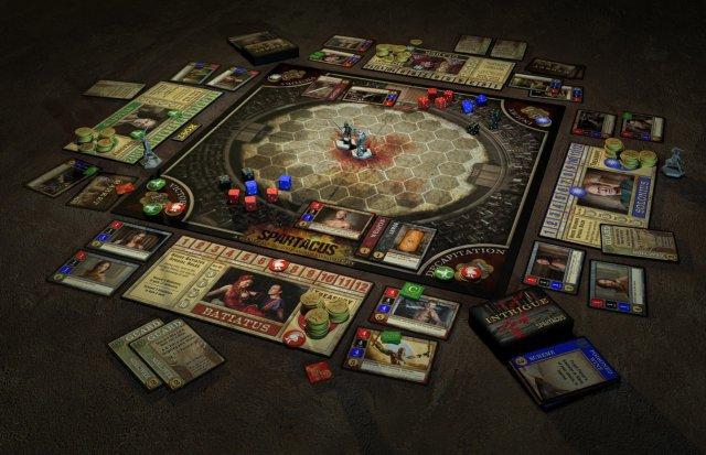 Spartacus beruht auf der gleichnamigen TV-Serie und ist komplett auf Deutsch beim Heidelberger Spielverlag erschienen. Es kostet knapp 40 Euro und ist für drei bis vier Spieler ausgelegt.