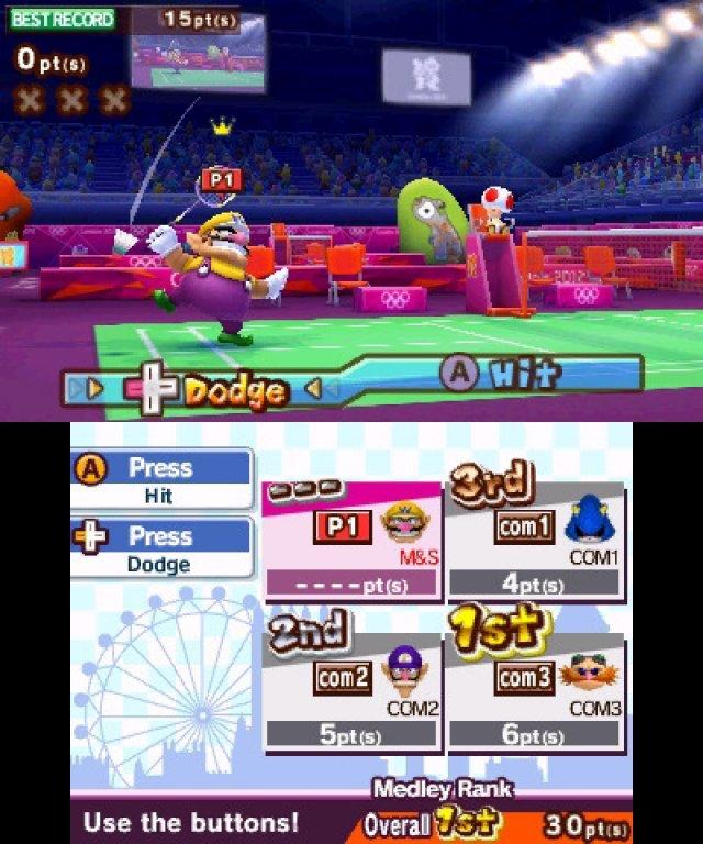 Screenshot - Mario & Sonic bei den Olympischen Spielen: London 2012 (3DS)