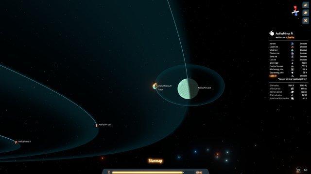 Umlaufbahn, Sonneneinstrahlung etc. werden simuliert.