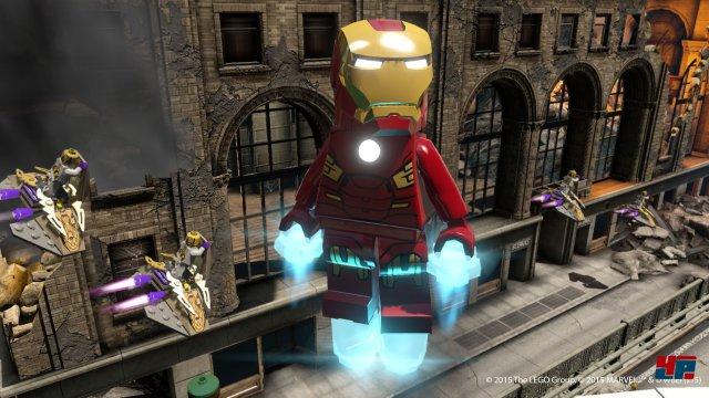 Mit Iron Man ist man nicht nur im Rahmen der zwei Avengers-Filme unterwegs. Es gibt auch einen Zusatzlevel samt Abenteuerwelt rund um Tony Starks Alter Ego.