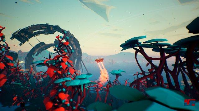Die lebensfeindlichen Planeten setzen der Landefähre oft ganz schön zu.