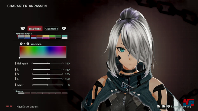 Geschlecht, Name und Aussehen der Hauptfigur kann man selbst festlegen.