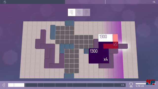 Auch wenn das Artdesign eher dezent als üppig ist: Das Spielgefühl ist mit seinem Tetris-Flair plus AKustikfeedback einzigartig.