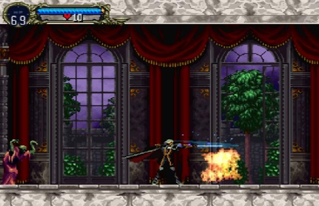 Wie bereits erwähnt waren Castlevania-Spiele eigentlich immer linear - Simon's Quest sowie der PC-Engine-Titel »Rondo of Blood« bildeten da die leichte Ausnahme. Aber so richtig wurde dieser Bann erst 1997 gebrochen - mit der Veröffentlichung von »Symphony of the Night«. Das schloss unmittelbar an das Ende von Rondo of Blood an (der Prolog war der Endkampf von Richter Belmont gegen Dracula) und lieferte ein Erlebnis, das als »Metroidvania« in die Spielegeschichte eingehen sollte: Held Alucard (wer nicht weiß, was das bedeutet, soll mal bitte von hinten nach vorn lesen) konnte das gigantische Schloss von Anfang an komplett erkunden - aber wie bei Metroid blieben bestimmte Bereich versperrt, bis man entsprechende Fähigkeiten sein Eigen nannte. Nicht nur diese radikale Änderung im Design, die hauptsächlich auf Koji »IGA« Igarashi zurückgeht, machte das Spiel legendär, sondern auch der komplett neue Look. Die junge Illustratorin Ayami Kojima verpasste dem Spiel einen Manga-ähnlichen Anstrich, komplett mit androgynen Figuren und weiten Linien. Ein legendäres Spiel, das bis heute nichts von seinem Charme und Anspruch verloren hat. Wer's nicht glaubt: Eine Umsetzung davon gibt es seit 2007 für Xbox Live Arcade. 2164298