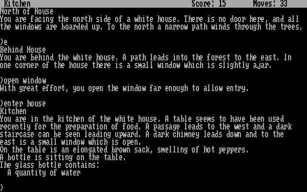 Zork<br><br>1977 entwickelten die MIT-Studenten Marc Blank und Dave Lebling, beides glühende »Adventure«-Fans, das Textadventure Zork. Das gewann unter ihren Kommilitonen derartige Popularität, dass nicht nur das MIT-Rechenzentrum Probleme bekam - kurzerhand gründeten die beiden die Firma Infocom, um Zork kommerziell zu vertreiben. Das erwies sich schwieriger als gedacht: Da der Umfang des Spiels für damalige Homecomputer zu viel des Guten war, wurde das Programm in drei Teile gesplittet, die separat veröffentlicht wurden. Zork war stilprägend für Textadventures, bot es doch schon den brillanten Parser, für den Infocom berühmt wurde: Während Konkurrenten falsche oder sinnlose Eingaben meist mit »I don´t understand!« quittierten, gab es von Infocom-Games meist eine sinnvolle oder wenigstens hochgradig alberne Antwort. Darüber hinaus war Zork schwer, sehr schwer - Gerüchten zufolge sollen noch heute langhaarige C64-User unter einem Berg von Pizzaschachteln leise das Wort »Grue« rufen... 1718657