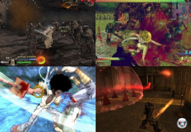 An dieser Stelle beginnen die Grenzen zu fließen: Aus dem Hack-n-Slay wird das Action-Adventure mit Schlitz-Anteil. Über die Jahre erschienen Spiele wie die Der Herr der Ringe-Schlitzer von EA, Enclave, Viking, Onechanbara, Too Human oder Afro Samurai, die einen deutlichen Schwerpunkt auf der Schwert/Axt/Säbel/sonstiges scharfes Gerät-Action hatten, aber auch nebenher viel boten. 2074798
