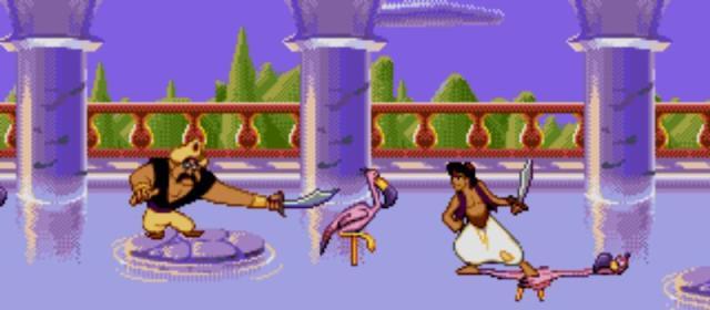 Aladdin (1993)<br><br>Es war einmal... Nein, mit der hiesigen Märchenwelt hat Aladdin natürlich wenig gemein – bezaubernd war Disneys Abenteuer trotzdem! Es bekam außerdem gleich zwei Filmspiele spendiert: Capcom belieferte SNES-Besitzer und Sega versorgte die restlichen Plattformen. Das Besondere an Segas Mega Drive- und PC-Variante war nicht nur die spätere Shiny-Crew um Dave Perry, sondern auch deren Zusammenarbeit mit Disney. So machten hervorragende Animationen vor verträumten Kulissen aus einem guten Spiel ein spielbares Märchen. Die SNES-Variante ist spielerisch ähnlich gehaltvoll – und ebenfalls wegen eines ihrer Entwickler bekannt: Kein Geringerer als der Vater von Vanquish und Resident Evil, Shinji Mikami, zeichnet dafür verantwortlich. 2178943