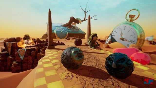 Man kann sich auch mit mehreren Spielern online die Steine um die Ohren jagen, z.B. bei Rennen, die stark an Super Monkey Ball erinnern.