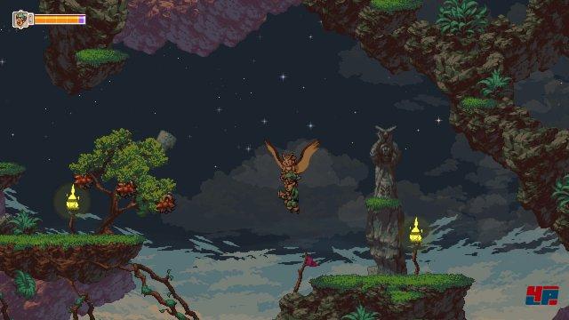 Otus fliegt, Greedy schießt. Das Duo steuert sich dabei wie ein normaler Arcade-Shooter.