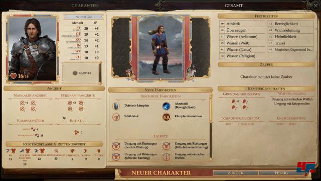 Den Protagonisten kann man aus einer Reihe vorgefertigter Helden wählen oder selbst kreieren.