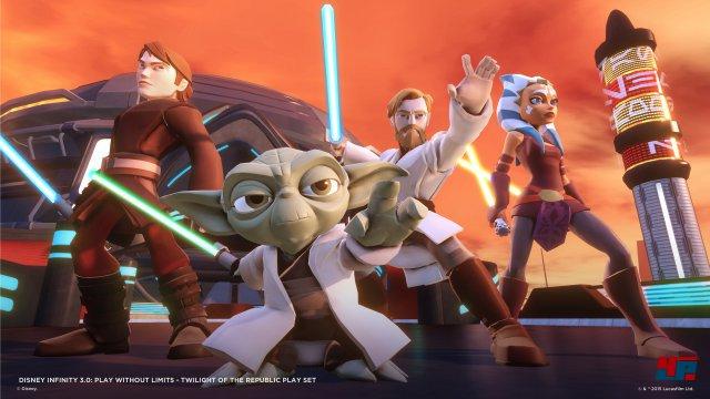 Das im Startpaket enthaltene Set dreht sich um die Star-Wars-Episoden 1 bis 3 sowie die Klonkriege.