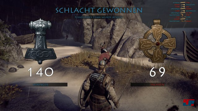Bis zu 24 Mann bekämpfen sich auf der Seite von Wikingern oder Sachsen in drei Klassen.