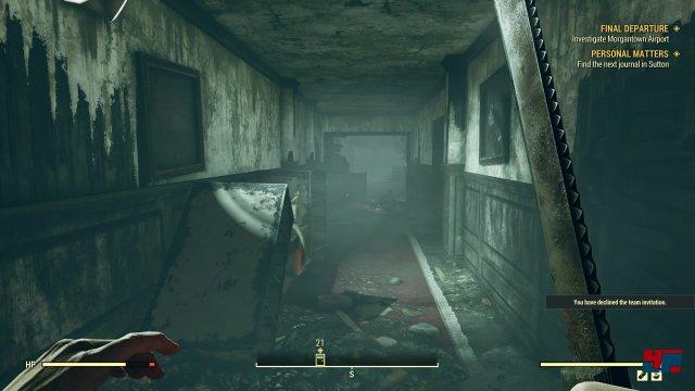 """Seine stärksten Momente hat Fallout 76 in den Momenten, in denen es sich in Dungeons wie ein """"echtes"""" Offline-Fallout anfühlt."""