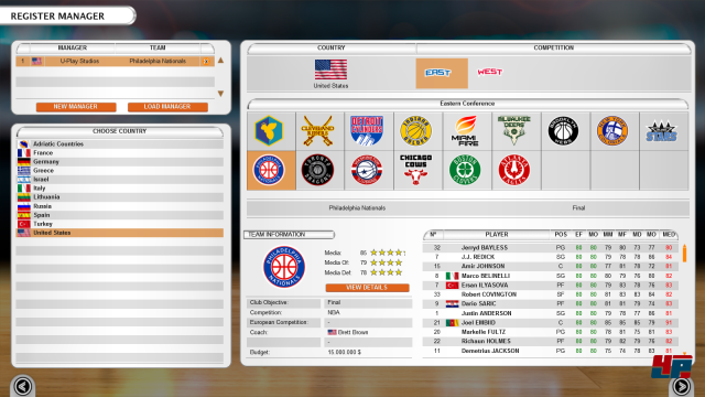 Screenshot - International Basketball Manager 2017-18 (PC)