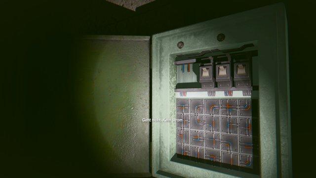 Die Sicherung braucht Saft: Ein Blick auf eines der wenigen ausgelagerten Puzzles.