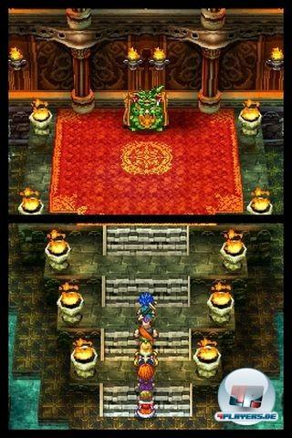 Die Spielwelt erstreckt sich über beide Bildschirme.