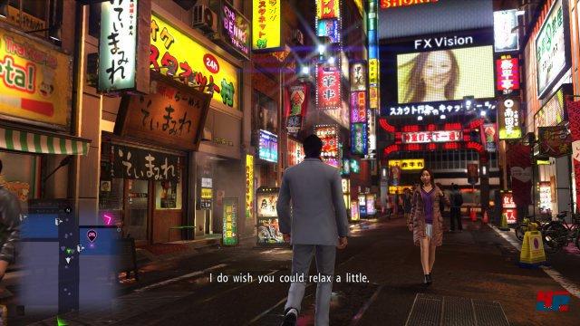 Ob das schillernde Kamurocho bei Nacht...