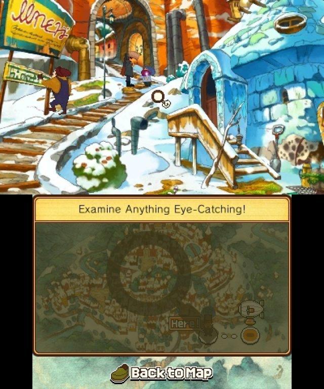 Mit der Lupe lassen sich die Spielumgebungen auf versteckte Objekte und Interaktionsmöglichkeiten untersuchen.