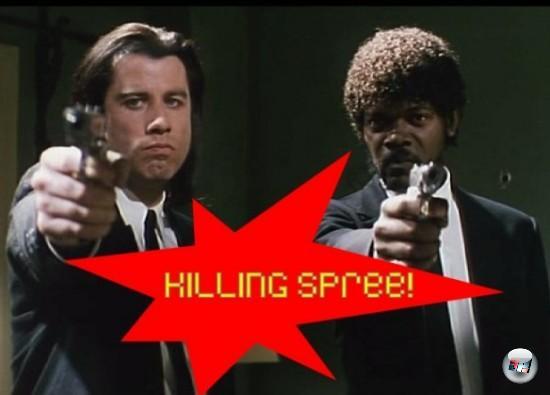 Okay, denken wir mal gemeinsam nach: Quentin Tarantino, jede Menge Knarren, massig Blut, eine coole Story, noch coolere Figuren. Wieso zum Teufel gibt es zu diesem Meisterwerk bislang kein Spiel? Wenn ein Film ein großartig-dreckiges Actiongame nach sich ziehen könnte, dann doch wohl Pulp Fiction, die Mutter aller Coolness! Dass Tarantino gut verprogrammierbar ist, bewies Eidos letztes Jahr mit Reservoir Dogs - das muss doch auch mit dem »Nachfolger« möglich sein! Vielleicht im Killer 7-Cel-Shading-Style? OMG! 1709677