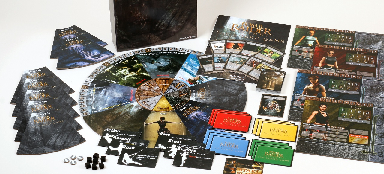 Tomb Raider Legends: The Board Game (Brettspiel) von Square Enix, Crystal Dynamics und Hobby Japan