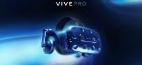 HTC Vive Pro: Wird ab dem 5. April ausgeliefert; Preis: 879 Euro; Preissenkung des Vorgängers (Vive Full Kit)