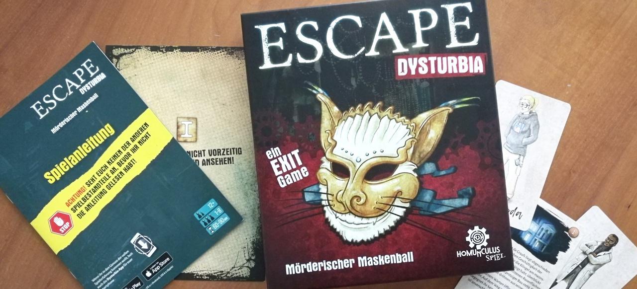 ESCAPE Dysturbia: Mörderischer Maskenball (Brettspiel) von Homunculus Spiel