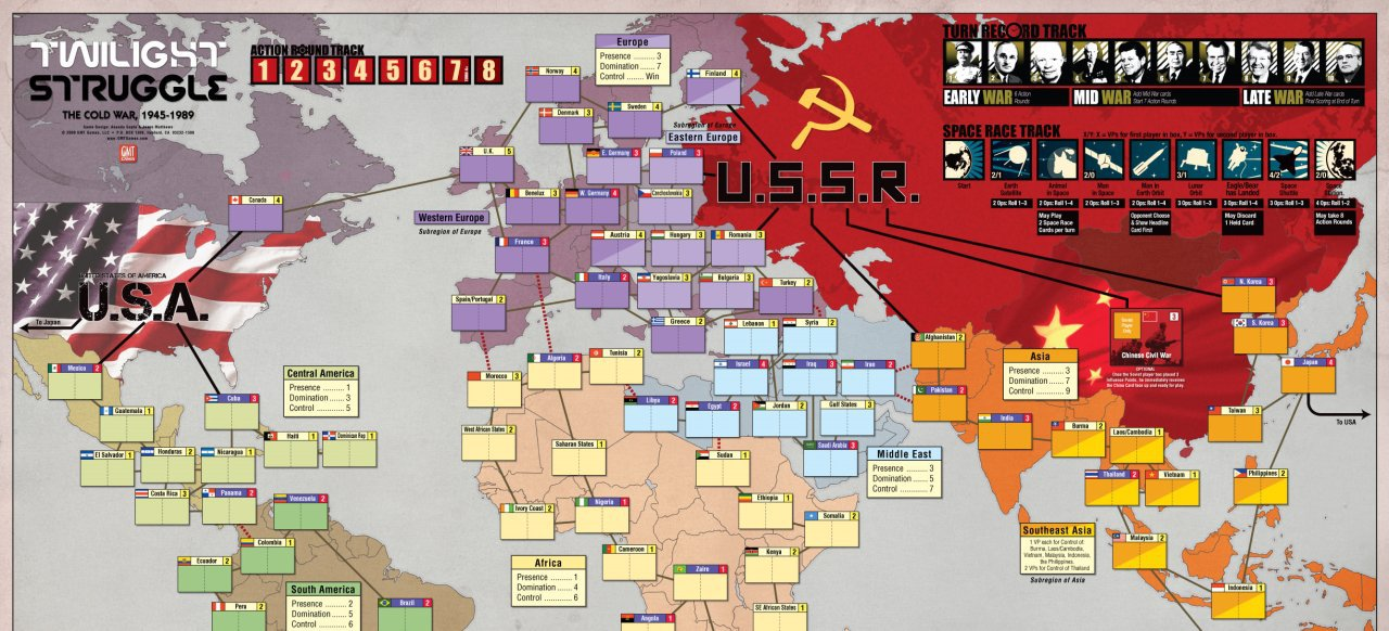Twilight Struggle (Strategie) von Playdek / GMT Games