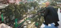 Hitman 2: Die Einsatzmöglichkeiten des Aktenkoffers im Trailer; Screenshots von Sean Bean als Elusive Target