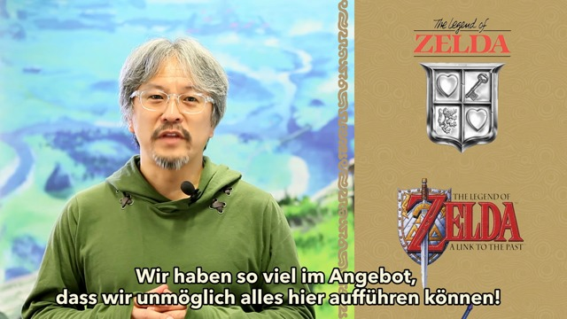 Eiji Aonuma kündigt die Zelda-Angebotswochen an