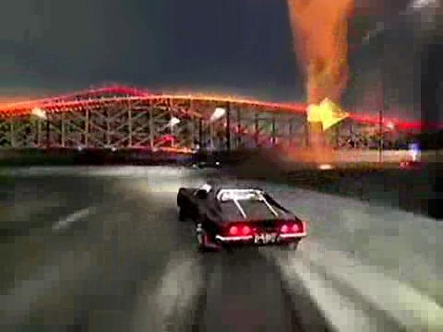 Corvette burns the Cops