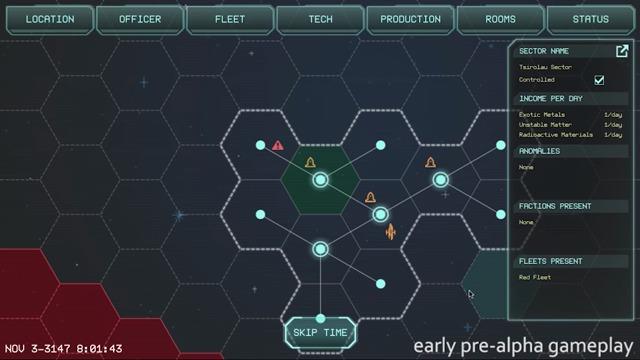 Star-Map-Navigation und Events (Frühe Alpha-Version)