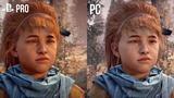 Horizon Zero Dawn: Grafikvergleich PC (Ultra) und PS4 Pro