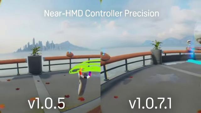 Near HMD Controller Precision