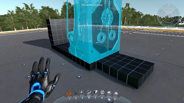 Raumschiffbau-Spielszenen
