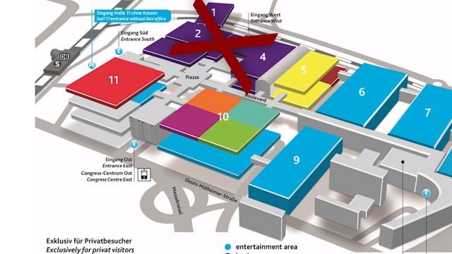 Hallen-Übersicht: Was ist wo auf der gamescom?