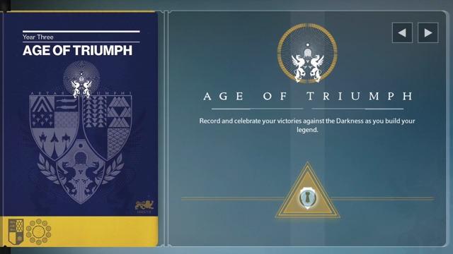 Zeitalter des Triumphs- Ankündigung