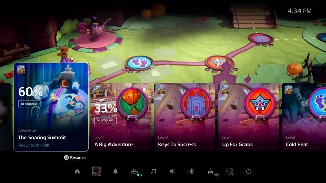 Erster Blick auf die PlayStation 5 Benutzeroberfläche