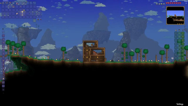 Two Nights in Terraria