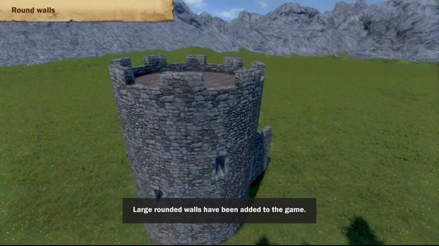 Update 02.013: Round walls, Stone wall